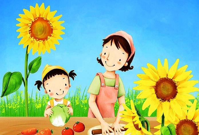 """Lovely illustration MOTHER – Từ """"đẹp"""" trong tiếng Anh"""